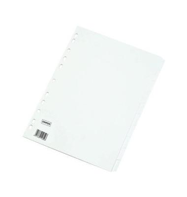 Kartonregister 1478053 blanko A4 170g weiße Taben 10-teilig