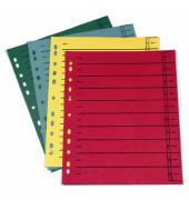 Trennblätter A4 farbig sortiert 230g Karton 20 Blatt Recycling
