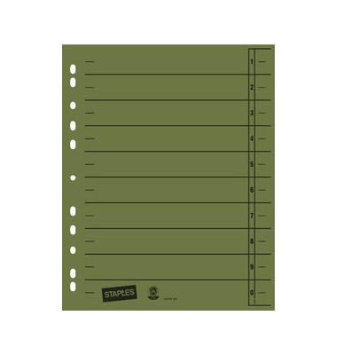 Trennblätter A4 grün 230g Karton 100 Blatt Recycling