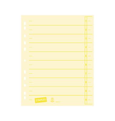 Trennblätter A4 chamois/gelb 230g Karton 100 Blatt Recycling