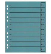Trennblätter A4 blau 230g Karton 100 Blatt Recycling