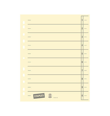 Trennblätter A4 chamois/grau 230g Karton 100 Blatt Recycling