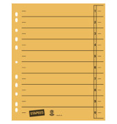 Trennblätter A4 gelb 230g Karton 100 Blatt Recycling