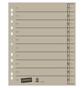 Trennblätter A4 grau 230g Karton 100 Blatt Recycling