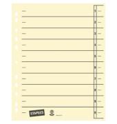Trennblätter A4 chamois/schwarz 230g Karton 100 Blatt Recycling