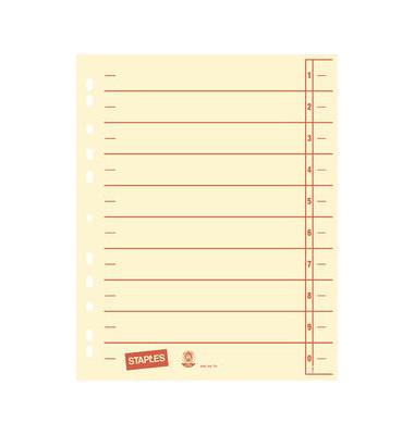 Trennblätter A4 chamois/rot 230g Karton 100 Blatt Recycling