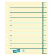 Trennblätter A4 chamois/blau 230g Karton 100 Blatt Recycling