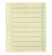 Trennblätter A4 chamois/grün 220g Karton 100 Blatt Recycling