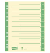 Trennblätter A4 chamois/grün farbige Taben 230g  Karton 100 Blatt Recycling