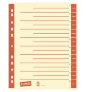 Trennblätter A4 chamois/rot farbige Taben 230g Karton 100 Blatt Recycling