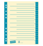 Trennblätter A4 chamois/blau farbige Taben 230g Karton 100 Blatt Recycling