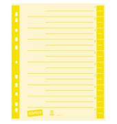 Trennblätter A4 chamois/gelb farbige Taben 230g Karton 100 Blatt Recycling