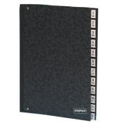 Pultordner A4 12 Fächer schwarz 27x34cm Recyclingkarton