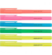 Textmarker Highlighter 6er Etui farbig sortiert 1-3mm Keilspitze