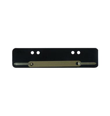 Heftstreifen kurz PP schwarz 34x150mm 100 Stück Metalldeckleiste