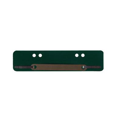 Heftstreifen kurz PP grün 34x150mm 100 Stück Metalldeckleiste