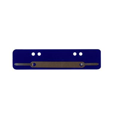 Heftstreifen kurz PP blau 34x150mm 100 Stück Metalldeckleiste