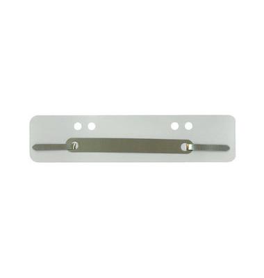 Heftstreifen kurz PP grau 34x150mm 100 Stück Metalldeckleiste