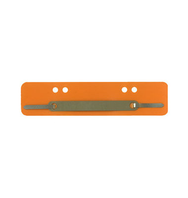 Heftstreifen kurz PP orange 34x150mm 100 Stück Metalldeckleiste