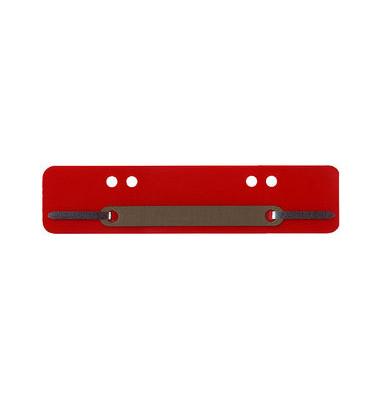Heftstreifen kurz PP rot 34x150mm 100 Stück Metalldeckleiste