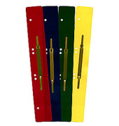 Heftstreifen lang 1611758, 45x310mm, extra lang, Kunststoff mit Metalldeckleiste, farbig sortiert, 100 Stück