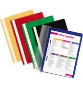 Schnellhefter A4 PP-Folie farbig sortiert 25 Stück transparenter Vorderdeckel