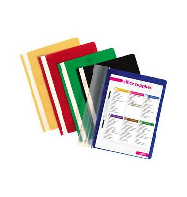 Schnellhefter 1620 A4 farbig sortiert PP Kunststoff kaufmännische Heftung