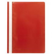 Schnellhefter A4 PP-Folie rot transparenter Vorderdeckel kaufmännische Heftung