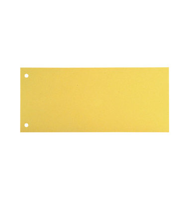 Trennstreifen gelb 190g gelocht 240x105mm 100 Blatt