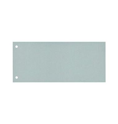 Trennstreifen grau gelocht 240x105mm 100 Blatt