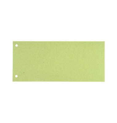 Trennstreifen grün 190g gelocht 240x105mm 100 Blatt
