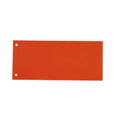 Trennstreifen orange 190g gelocht 240x105mm 100 Blatt
