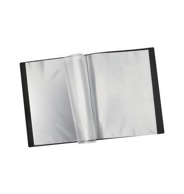 Sichtbuch 1824698 schwarz A4 PP mit 24 Hüllen
