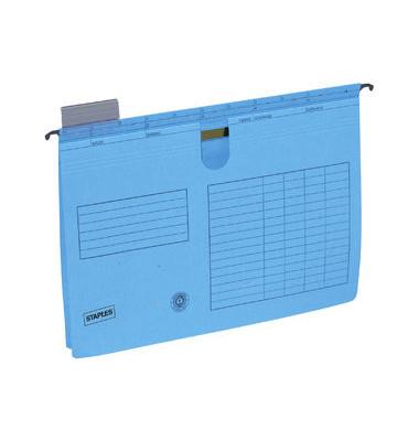 Hängehefter A4 blau mit Reiter ohne Tasche kaufmännische Heftung 25 Stück 1983018