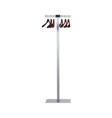Garderobenständer SPIRIT grau mit 6 Holzbügeln 50 x 175cm