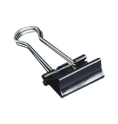 Foldbackklammern 2392760, 15mm, Metall schwarz, 12 Stück