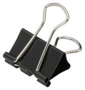 Foldbackklammern 2515418, 25mm, Metall schwarz, 12 Stück