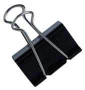 Foldbackklammern 19mm schwarz Klemmweite 7mm 12 Stück