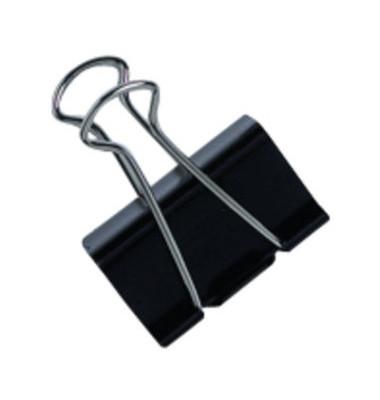 Foldbackklammern 2529600, 19mm, Metall schwarz, 12 Stück