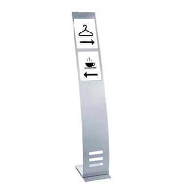 Infoständer tec-art schmal silber für 4 Fächer A4/8 Fächer DIN lang