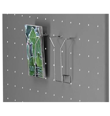 Drahtprospektfach tec-art DIN lang silber 2 Stück