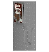 Drahtprospektfach tec-art DIN A4 silber 2 Stück