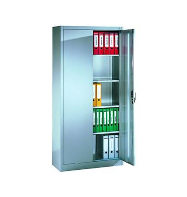 Aktenschrank ClassicLine Serie 900 9260-000-7035/5010, Stahl abschließbar, 5 OH, 93 x 195 x 40 cm, blau/lichtgrau
