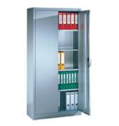 Aktenschrank ClassicLine Serie 900 9280-000-7035/5010, Stahl abschließbar, 5 OH, 93 x 195 x 50 cm, inkl. Montage, blau/lichtgrau