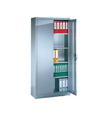 Aktenschrank ClassicLine Serie 900 9280-000-7035/5010, Stahl abschließbar, 5 OH, 93 x 195 x 50 cm, inkl. Montage, blau/lichtgra