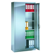 Aktenschrank ClassicLine Serie 900 9460-000-7035/5010, Stahl abschließbar, 5 OH, 120 x 195 x 40 cm, blau/lichtgrau