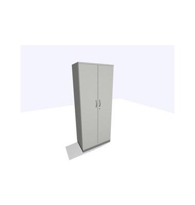 ClassicLine Aktenschrank grau 80 x 45 x 198 cm 4 Böden inkl. Montage