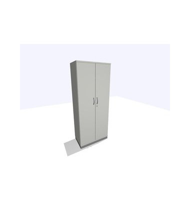 Aktenschrank ClassicLine K1DBAV6401-A1A1A1K0S0D0, Holz/Stahl abschließbar, 5 OH, 80 x 198 x 45 cm, inkl. Montage, lichtgrau