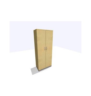 Aktenschrank ClassicLine K1DBAV6401-A9A9A9K0S0D0, Holz/Stahl abschließbar, 5 OH, 80 x 198 x 45 cm, inkl. Montage, ahorn