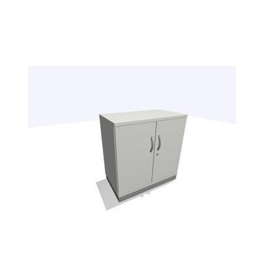 Aktenschrank ClassicLine SBBCC22-A1A1A1A1K0D0DD0003, Holz/Stahl abschließbar, 2 OH, 80 x 82 x 45 cm, lichtgrau